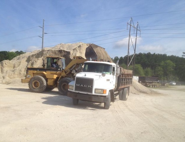 W Frazier Construction providing Trucking services and Dirt Pits in Charleston SC county since 1982